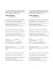 English Worksheets: Song - Tears in heaven