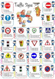 English Worksheet: Traffic Signs & Rules