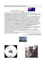 English Worksheets: Au Aussie experience