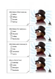 English Worksheet: CHARLIE AND THE CHOCOLATE FACTORY board game CARDS 3