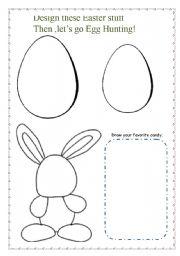 english worksheet easter egg hunt material. Black Bedroom Furniture Sets. Home Design Ideas