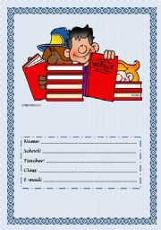 English Worksheets: copybook cover