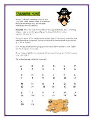 English Worksheets: Treasure Hunt