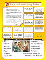 English Worksheets: Let�s chat about Harry Potter