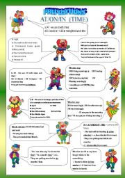 English Worksheet: IN, ON, AT PREPOSITION - GRAMMAR GUIDE