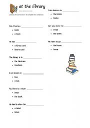 Vocabulary worksheets > The city > At the library