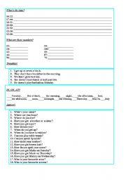 English Worksheets: Elementary exercise