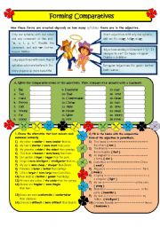 English Worksheet: Forming Comparatives