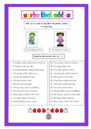 english worksheet verbs that add s. Black Bedroom Furniture Sets. Home Design Ideas