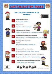 English Worksheets: Capitalization Rules