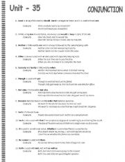 English Worksheets: Conjunctions