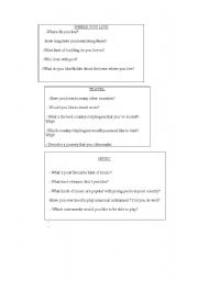 English Worksheets: oral activities ( part 3)