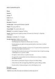 English teaching worksheets: Telephone conversation