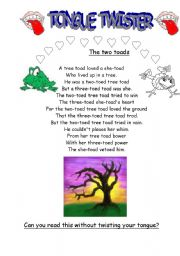 English Worksheets: The toads