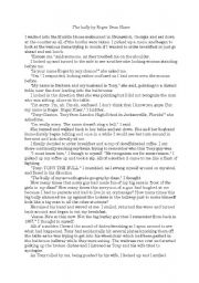 English Worksheet: short story: the bully