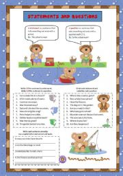 English Worksheets: Statements and Questions