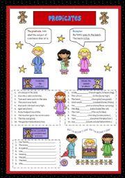 English Worksheets: Predicates