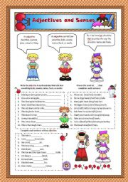 English Worksheets: Adjectives and Senses