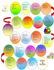 English Worksheet: Easter Boardgame
