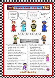 Verbs that Add -s