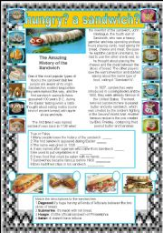 English Worksheets: SANDWICH