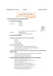 English Worksheets: who did  Patrick�s homework?