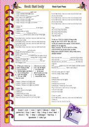 English Worksheets: Rock that body