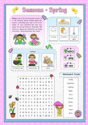 English Worksheet: Seasons - Spring