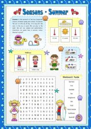 English Worksheet: Seasons - Summer