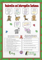 English Worksheets: Declarative and Interrogative Sentences