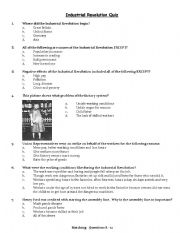 Printables Industrial Revolution Worksheet english worksheet industrial revolution quiz