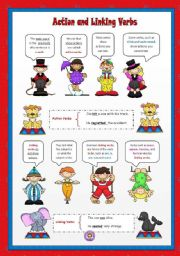 worksheet: Action and Linking Verbs