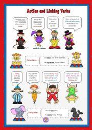 English worksheets: Action and Linking Verbs