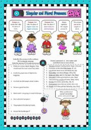 English Worksheets: Singular and Plural Pronouns
