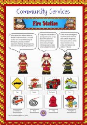English Worksheet: Community Services 5 - Fire Station