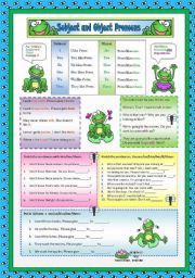English Worksheet: Subject and Object Pronouns 2