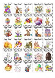 English Worksheet: Easter Stickers