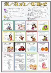 English Worksheet: A/An/The