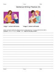 English Worksheets: Leveled Sentence Writing Practice ESL 1