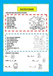 EASTER POEMS AND ACTIVITY