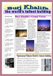 English Worksheets: the world´s tallest building