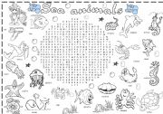 sea animals wordsearch