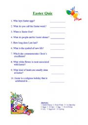 Easter trivia questions for adults