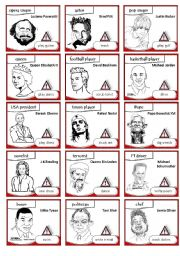 English Worksheets: Famous people - Usually vs. Today Game