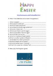 English Worksheet: Easter interactive webquest game