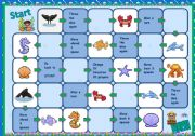 English Worksheet: Under the sea - boardgame
