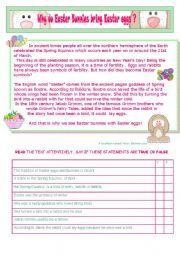 English Worksheets: EASTER FUN  ACTIVITIES