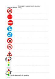 English Worksheet: traffic rules