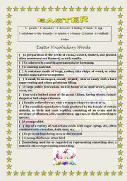 English Worksheet: VOCABULARY STUDY - EASTER