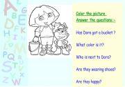 English Worksheets: Dora